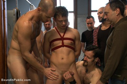 Photo number 6 from Cruising for Sex with Micah Andrews shot for Bound in Public on Kink.com. Featuring Micah Andrews, Cole Streets and Leo Forte in hardcore BDSM & Fetish porn.