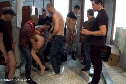 Photo number 5 from Cruising for Sex with Micah Andrews shot for Bound in Public on Kink.com. Featuring Micah Andrews, Cole Streets and Leo Forte in hardcore BDSM & Fetish porn.
