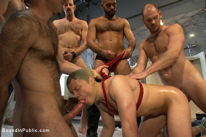 Photo number 8 from Cruising for Sex with Micah Andrews shot for Bound in Public on Kink.com. Featuring Micah Andrews, Cole Streets and Leo Forte in hardcore BDSM & Fetish porn.