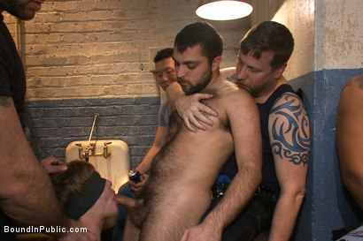 Photo number 2 from Sex in The Slaughter House shot for Bound in Public on Kink.com. Featuring Spencer Reed, Noah Brooks and Brian Bonds in hardcore BDSM & Fetish porn.