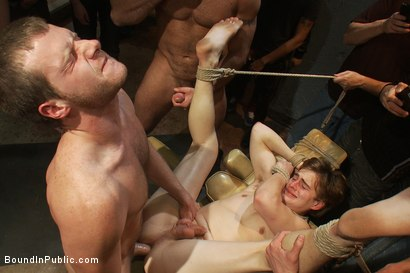 Photo number 8 from Sex in The Slaughter House shot for Bound in Public on Kink.com. Featuring Spencer Reed, Noah Brooks and Brian Bonds in hardcore BDSM & Fetish porn.