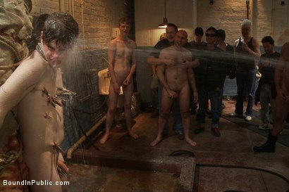 Photo number 9 from Sex in The Slaughter House shot for Bound in Public on Kink.com. Featuring Spencer Reed, Noah Brooks and Brian Bonds in hardcore BDSM & Fetish porn.