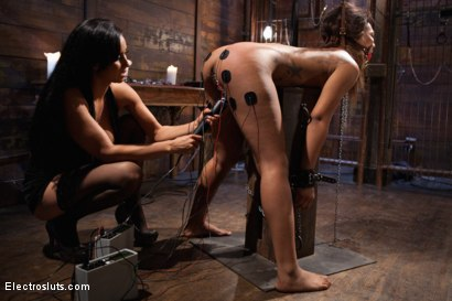 Photo number 8 from The Chosen One: An Electrosluts Reality Film shot for Electro Sluts on Kink.com. Featuring Isis Love and Leilani Leeane in hardcore BDSM & Fetish porn.