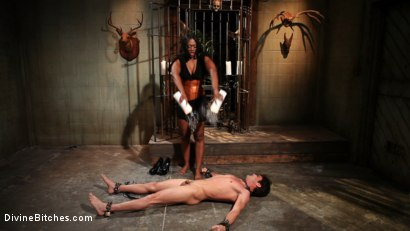 Photo number 3 from Worship Her Greatness! shot for Divine Bitches on Kink.com. Featuring Nyomi Banxxx and Lance Hart in hardcore BDSM & Fetish porn.
