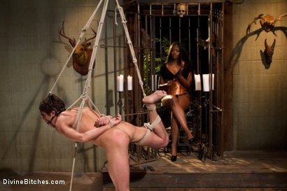 Photo number 13 from Worship Her Greatness! shot for Divine Bitches on Kink.com. Featuring Nyomi Banxxx and Lance Hart in hardcore BDSM & Fetish porn.