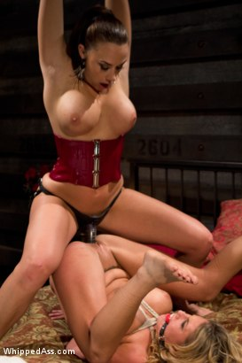 Photo number 12 from Chanel Preston dommes on Whipped Ass for the FIRST TIME! shot for Whipped Ass on Kink.com. Featuring Charisma Cappelli and Chanel Preston in hardcore BDSM & Fetish porn.