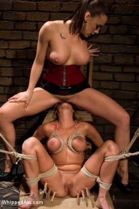 Photo number 15 from Chanel Preston dommes on Whipped Ass for the FIRST TIME! shot for Whipped Ass on Kink.com. Featuring Charisma Cappelli and Chanel Preston in hardcore BDSM & Fetish porn.