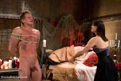 Photo number 4 from Fire, Ice and Electricity shot for Divine Bitches on Kink.com. Featuring Trent Diesel and Bobbi Starr in hardcore BDSM & Fetish porn.
