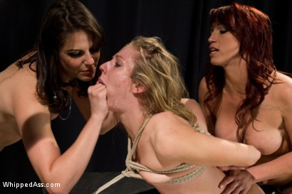 Photo number 14 from Blonde Spy Interrogated by Kink Bitches! shot for Whipped Ass on Kink.com. Featuring Bobbi Starr, Nicki Hunter and Chastity Lynn in hardcore BDSM & Fetish porn.