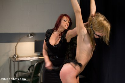 Photo number 5 from Blonde Spy Interrogated by Kink Bitches! shot for Whipped Ass on Kink.com. Featuring Bobbi Starr, Nicki Hunter and Chastity Lynn in hardcore BDSM & Fetish porn.
