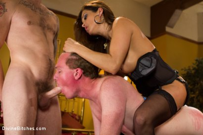 Photo number 11 from Francesca Le's Birthday Cuckold shot for Divine Bitches on Kink.com. Featuring Francesca Le , Christian Wilde and Henry Jacob in hardcore BDSM & Fetish porn.