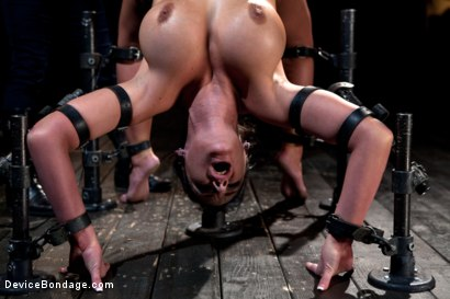 Photo number 17 from From the Vault - Aiden Starr  and Phoenix Marie shot for Device Bondage on Kink.com. Featuring Phoenix Marie in hardcore BDSM & Fetish porn.