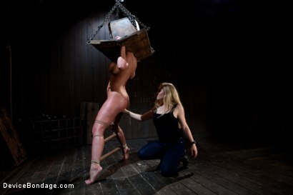 Photo number 6 from From the Vault - Aiden Starr  and Phoenix Marie shot for Device Bondage on Kink.com. Featuring Phoenix Marie in hardcore BDSM & Fetish porn.