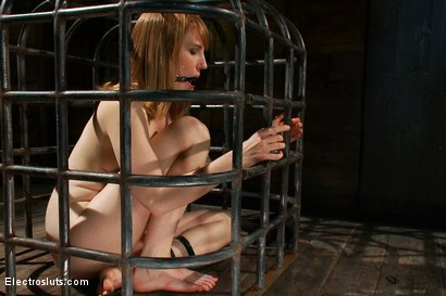 Photo number 11 from Surprising Shocks from a Metal Cage shot for Electro Sluts on Kink.com. Featuring Bobbi Starr and Mallory Mallone in hardcore BDSM & Fetish porn.