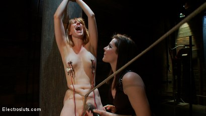 Photo number 13 from Redhead Endures Standing Electro-Sex shot for Electro Sluts on Kink.com. Featuring Bobbi Starr and Mallory Mallone in hardcore BDSM & Fetish porn.