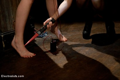 Photo number 3 from Redhead Endures Standing Electro-Sex shot for Electro Sluts on Kink.com. Featuring Bobbi Starr and Mallory Mallone in hardcore BDSM & Fetish porn.