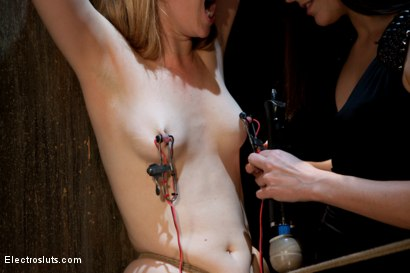 Photo number 10 from Redhead Endures Standing Electro-Sex shot for Electro Sluts on Kink.com. Featuring Bobbi Starr and Mallory Mallone in hardcore BDSM & Fetish porn.