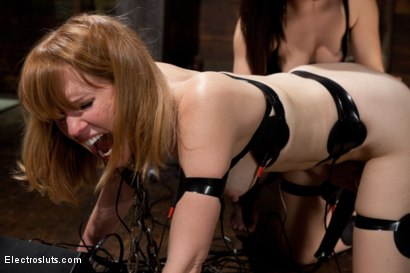 Photo number 5 from Please me! shot for Electro Sluts on Kink.com. Featuring Bobbi Starr and Mallory Mallone in hardcore BDSM & Fetish porn.