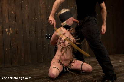 Photo number 2 from Cherry Torn Throat Fucked, Blindfolded, Beaten, and Abused! shot for Device Bondage on Kink.com. Featuring Cherry Torn and James Deen in hardcore BDSM & Fetish porn.