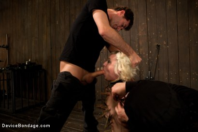 Photo number 8 from Cherry Torn Throat Fucked, Blindfolded, Beaten, and Abused! shot for Device Bondage on Kink.com. Featuring Cherry Torn and James Deen in hardcore BDSM & Fetish porn.