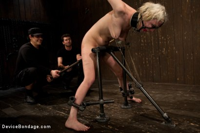 Photo number 4 from Cherry Torn gets all tore up as she gets her ass whipped all to hell! shot for Device Bondage on Kink.com. Featuring Cherry Torn and James Deen in hardcore BDSM & Fetish porn.
