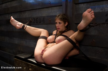 Photo number 3 from The Harder She Cums, the More She Squirts! shot for Electro Sluts on Kink.com. Featuring Bobbi Starr and Felony in hardcore BDSM & Fetish porn.