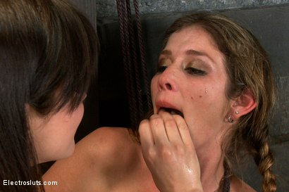 Photo number 15 from The Harder She Cums, the More She Squirts! shot for Electro Sluts on Kink.com. Featuring Bobbi Starr and Felony in hardcore BDSM & Fetish porn.