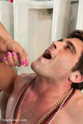 Photo number 12 from The Madri Gras Snatcher: Ts Vaniity fucking in a Public Bathroom shot for TS Seduction on Kink.com. Featuring Vaniity and Lance Hart in hardcore BDSM & Fetish porn.