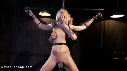Photo number 5 from Tall blonde slut suffers from nipple torture, sadistic beatings, and extreme squirting orgasms shot for Device Bondage on Kink.com. Featuring Dylan Ryan in hardcore BDSM & Fetish porn.