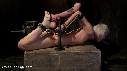 Photo number 6 from Tall blonde slut suffers from nipple torture, sadistic beatings, and extreme squirting orgasms shot for Device Bondage on Kink.com. Featuring Dylan Ryan in hardcore BDSM & Fetish porn.