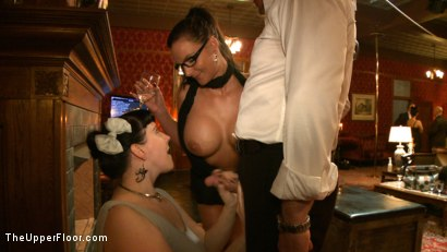 Photo number 1 from Slave Initiation: pistol shot for The Upper Floor on Kink.com. Featuring Krysta Kaos, Dylan Ryan, Beretta James, Maestro Stefanos and The Pope in hardcore BDSM & Fetish porn.