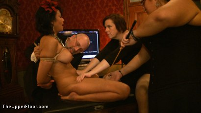 Photo number 13 from Slave Initiation: pistol shot for The Upper Floor on Kink.com. Featuring Krysta Kaos, Dylan Ryan, Beretta James, Maestro Stefanos and The Pope in hardcore BDSM & Fetish porn.