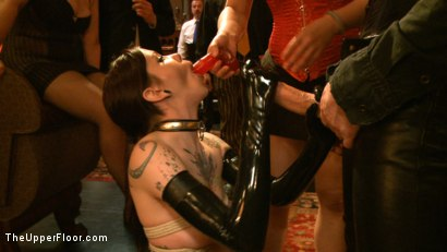 Photo number 9 from Slave Initiation: pistol shot for The Upper Floor on Kink.com. Featuring Krysta Kaos, Dylan Ryan, Beretta James, Maestro Stefanos and The Pope in hardcore BDSM & Fetish porn.
