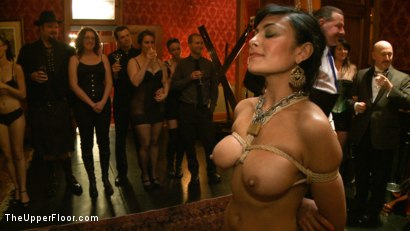Photo number 15 from Slave Initiation: pistol shot for The Upper Floor on Kink.com. Featuring Krysta Kaos, Dylan Ryan, Beretta James, Maestro Stefanos and The Pope in hardcore BDSM & Fetish porn.