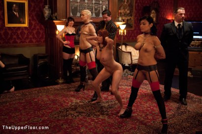 Photo number 2 from Promotion of o shot for The Upper Floor on Kink.com. Featuring Dylan Ryan, Beretta James, Krysta Kaos and Odile in hardcore BDSM & Fetish porn.