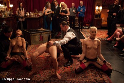 Photo number 5 from Promotion of o shot for The Upper Floor on Kink.com. Featuring Dylan Ryan, Beretta James, Krysta Kaos and Odile in hardcore BDSM & Fetish porn.