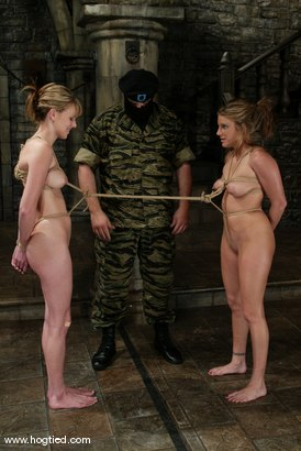 Photo number 4 from Jackie Moore, Sgt. Major and Audrey Leigh shot for Hogtied on Kink.com. Featuring Sgt. Major, Audrey Leigh and Jackie Moore in hardcore BDSM & Fetish porn.