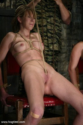 Photo number 9 from Jackie Moore, Sgt. Major and Audrey Leigh shot for Hogtied on Kink.com. Featuring Sgt. Major, Audrey Leigh and Jackie Moore in hardcore BDSM & Fetish porn.