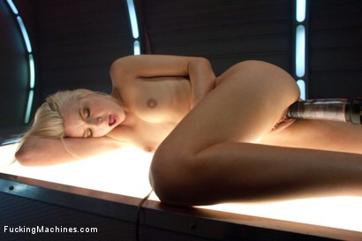 Photo number 4 from  A Little Rope and A LOT of Torque is All it Takes: Making a Blond Cum From Fucking Machines shot for Fucking Machines on Kink.com. Featuring Anikka Albrite in hardcore BDSM & Fetish porn.