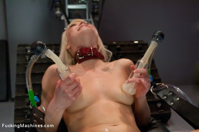Photo number 7 from  A Little Rope and A LOT of Torque is All it Takes: Making a Blond Cum From Fucking Machines shot for Fucking Machines on Kink.com. Featuring Anikka Albrite in hardcore BDSM & Fetish porn.