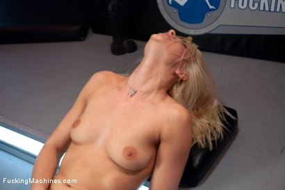 Photo number 3 from Four Months into Porn and Hotter Than Jenna Jameson: There's A New Blonde Babe in Town shot for Fucking Machines on Kink.com. Featuring Anikka Albrite in hardcore BDSM & Fetish porn.