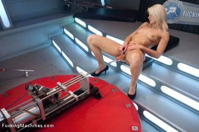 Photo number 5 from Four Months into Porn and Hotter Than Jenna Jameson: There's A New Blonde Babe in Town shot for Fucking Machines on Kink.com. Featuring Anikka Albrite in hardcore BDSM & Fetish porn.