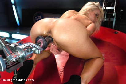 Photo number 15 from Four Months into Porn and Hotter Than Jenna Jameson: There's A New Blonde Babe in Town shot for Fucking Machines on Kink.com. Featuring Anikka Albrite in hardcore BDSM & Fetish porn.