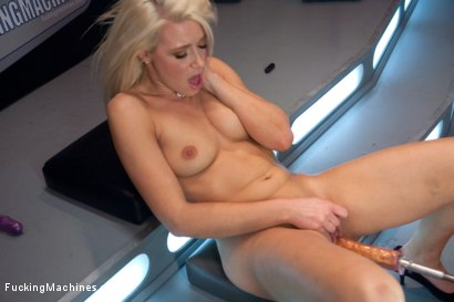 Photo number 6 from Four Months into Porn and Hotter Than Jenna Jameson: There's A New Blonde Babe in Town shot for Fucking Machines on Kink.com. Featuring Anikka Albrite in hardcore BDSM & Fetish porn.