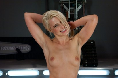 Photo number 12 from Four Months into Porn and Hotter Than Jenna Jameson: There's A New Blonde Babe in Town shot for Fucking Machines on Kink.com. Featuring Anikka Albrite in hardcore BDSM & Fetish porn.