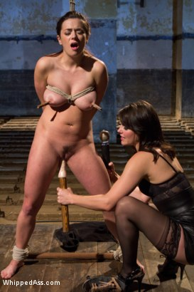 Photo number 12 from WHIPPED ASS GIRL OF THE MONTH APRIL 2012: The Dark Side Of Taylor Vixen shot for Whipped Ass on Kink.com. Featuring Taylor Vixen and Bobbi Starr in hardcore BDSM & Fetish porn.