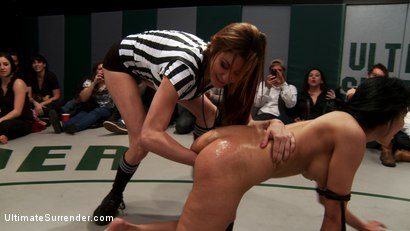 Photo number 13 from 5 girl massive fisting, squirting, fucking, licking orgy from hell. Losers lick up their own squirt! shot for Ultimate Surrender on Kink.com. Featuring Ariel X, DragonLily, Beretta James and Lyla Storm in hardcore BDSM & Fetish porn.