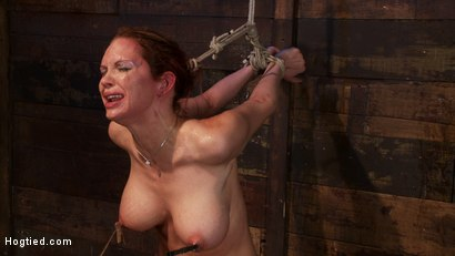 Photo number 11 from Extreme nipple torment, brutal gag, a skull fucking, while the sybian makes her cum her brains out!  shot for Hogtied on Kink.com. Featuring Rain DeGrey in hardcore BDSM & Fetish porn.