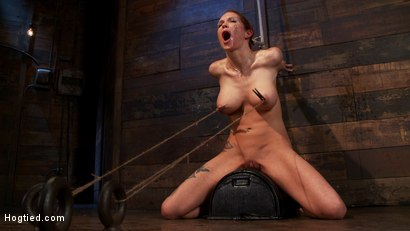 Photo number 12 from Extreme nipple torment, brutal gag, a skull fucking, while the sybian makes her cum her brains out!  shot for Hogtied on Kink.com. Featuring Rain DeGrey in hardcore BDSM & Fetish porn.