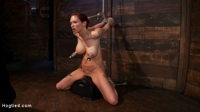 Photo number 2 from Extreme nipple torment, brutal gag, a skull fucking, while the sybian makes her cum her brains out!  shot for Hogtied on Kink.com. Featuring Rain DeGrey in hardcore BDSM & Fetish porn.